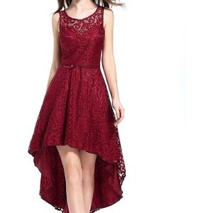 Dresses & Skirts - Formal Wedding Guest Promp Red High Low Dress SM